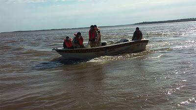 Operativo en río, antidepredación secuestraron mallas de pesca