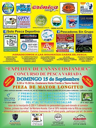 Concurso de pesca variada - 15 de septiembre